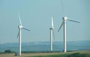 Carland Cross wind farm, Cornwall. (c) freefoto.com